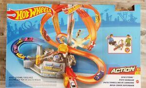 HotWheels Spin Storm Mega-Crash Superbahn Action Loopings und Kurven