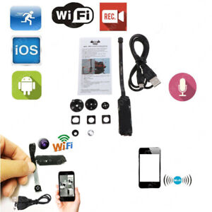 1080P Mini Caméra Espion Sans Fil Wifi Vidéo Cam DVR Cachée Micro Surveillance