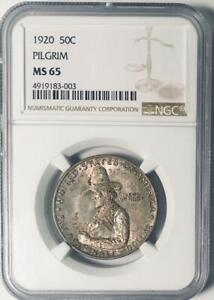1920 Pilgrim Commemorative Silver Half Dollar- NGC MS 65 - Mint State 65
