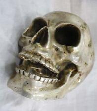 Archaic Tibet silver In-D Copper skull framework statue