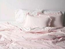 �� Simply Shabby Chic Rose Pink Linen Blend Crochet Trim King Comforter Set ��