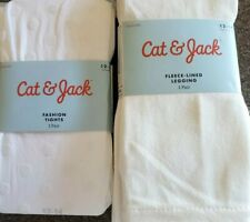 Two (2) Pair Cat & Jack Brand Tights/Capri Legging Girl's Size 12-14 New (32)