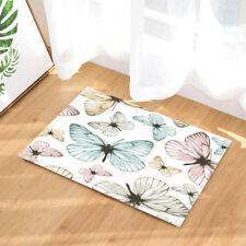 Butterfly Colorful Hand Drawn Non Slip Rug Carpet Bedroom Bathroom Mat Doormat