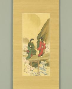 宮川長春 MIYAGAWA CHOSHUN Hanging scroll / UKIYOE KIMONO BEAUTY IN SPRING E805
