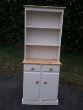 SOLID PINE BOOKCASE DRESSER IN ANYFARROW AND BALL COLOUR.