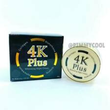 Original 4K Plus Whitening Night Skin Smooth Cream Glutathione Facial Pores Make