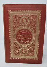 Voyage Au Centre De La terre  bouquet de rose orange jules verne hetzel