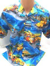 NEW M&C Mens Button Down Classic 1950's Hot Rods Cotton Hawaiian Shirt SMALL