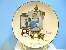 1978 Triple Self Portrait Norman Rockwell Collector Plate