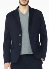 New Armani Exchange Mens Two Button Blazer Solid Navy Blue Size 40 6XZG12 ZNC3Z