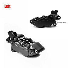 Left Side Racing Motorcycle Dirt Bike 42mm Brake Calipers With 4 Piston Black