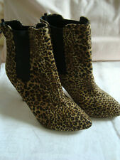 PRIMARK  Print High Heeled BOOTS - Size 6 (39)