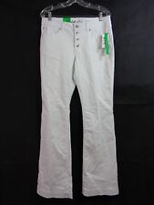 INC International Concepts Women's White Button Fly Flare Leg Jeans Size 10 NWT