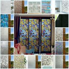 3D Static Cling Frosted Window Glass Film Sticker Privacy Self Adhesive Decor