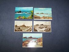 5 postcards of Corbiere Lighthouse Jersey - Channel Islands  - i blank, 4 posted