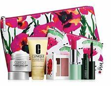 Clinique 7 piece Makeup Skincare Gift Set Pink Floral Bag (Warm)