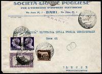 1929 - Lettera per Lecce con affrancatura multipla