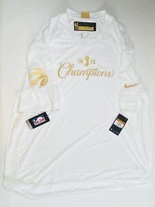 Toronto Raptors Champion Nike Dri Fit Short Sleeve Authentic CQ4287-100 XXL Tall
