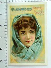 Glenwood Stoves & Ranges 1887 Mechanics' Fair Lovely Lady Blue Scarf &G