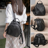 Soft Real Leather Small Backpack Rucksack Daypack Travel bag Purse Bag 2 sizes
