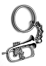 Flugel Horn Keyring - Music Themed Gift - Brass Student or Teacher Gift