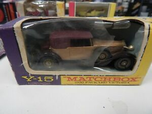 MODELS OF YESTERYEAR BY MATCHBOX 1930 PACKARD VICTORIA