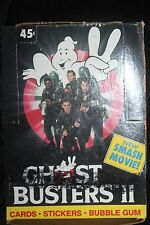 1989 Ghost Buster II Topps Trading Cards & Stickers Box 36 Wax Packs