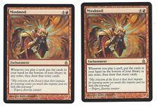 MTG Magic The Gathering Ravnica Mindmoil X 2 Red Enchantment Card Draw Mountain