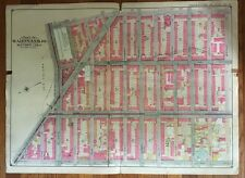 ORIGINAL 1904 PARK SLOPE, BROOKLYN NY, PUBLIC SCHOOLS # 4 & 133, PLAT ATLAS MAP