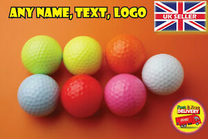 Personalised golf balls with any name logo photo text 7 colours to choose