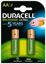 2 x Duracell AA 2500 mAh Rechargeable ULTRA Batteries  NiMH HR6 NEW Duralock