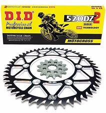 D.I.D. Gold Motocross Chain BLACK Sprocket Combo Kit 48/13T YZ450F .