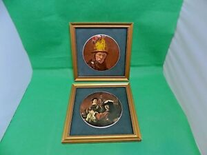 Maw & Co Vintage Rembrant Series Wall Plagues x 2