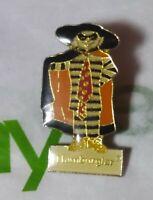 Vintage RARE Hamburglar In Cape and Hat McDonalds Button Pinback Brooch Old Pin