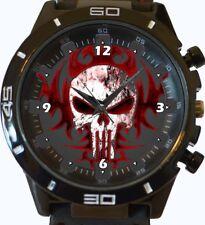Reloj de Pulsera Gótico Calavera Punisher Rojo Nueva serie de deportes de moda Unisex Regalo