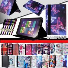 Para varios Lenovo Tab 2/3/4 Tablet-Smart Soporte Cuero Funda Cubierta + Stylus
