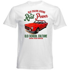 VINTAGE ITALIAN CAR FIAT 2300 ABARTH - NEW COTTON T-SHIRT