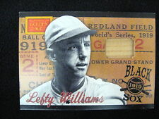 """CLAUDE """"LEFTY"""" WILLIAMS GAME-USED BAT RELIC CARD--2012 GOLDEN AGE--BLACK SOX #2"""