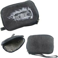 Grey Canvas Camera Pouch Case for Canon PowerShot A800 A1400 Digital Camera