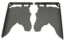 Horse Head Shelf Bracket Set - Western