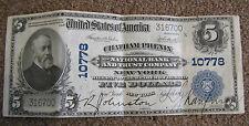 1915 5 DOLLAR NATIONAL BANKNOTE  NEW YORK CHATHAM PHENIX NATIONAL BANK & TRUST