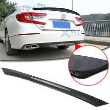 Carbon Fiber Rear Bumper Moulding Cover Trim Abs For Honda Accord 2018 2020 2021