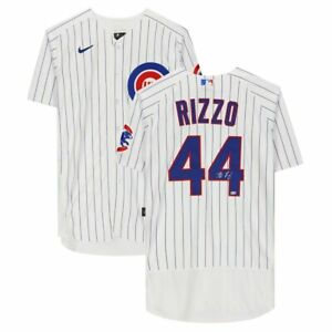 ANTHONY RIZZO Autographed Chicago Cubs Authentic Nike White Jersey FANATICS
