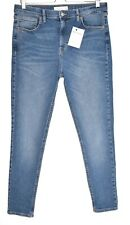 Topshop JAMIE High Rise Skinny Medium Mid Blue Stretch Jeans Size 12 W30 L32