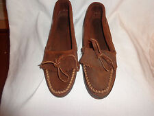 EUC Minnetonka Moccasin Suede leather Driviing Moccasin Loafers Womens size 10 M