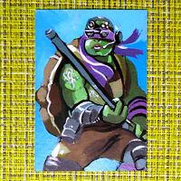 Teenage Mutant Ninja Turtle original painting 1/1 signed sketch card