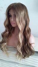 "Custom 360 Glueless Lace European 2T#9/60 Slightly Wavy Human Hair Wig 22"""