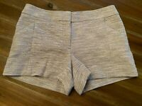 Ann Taylor Loft Women's Shorts Size 2 Gray And White Tweed Clothing Bottom