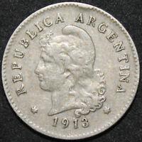 1913 | Argenetina 10 Centavos 'Round Top 3' | Cupro-Nickel | Coins | KM Coins