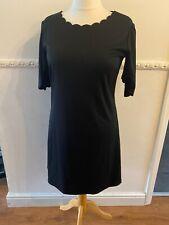 Black Yas Asos Dress Size L Large 16 Nice Scalloped Neckline Short Sleeve